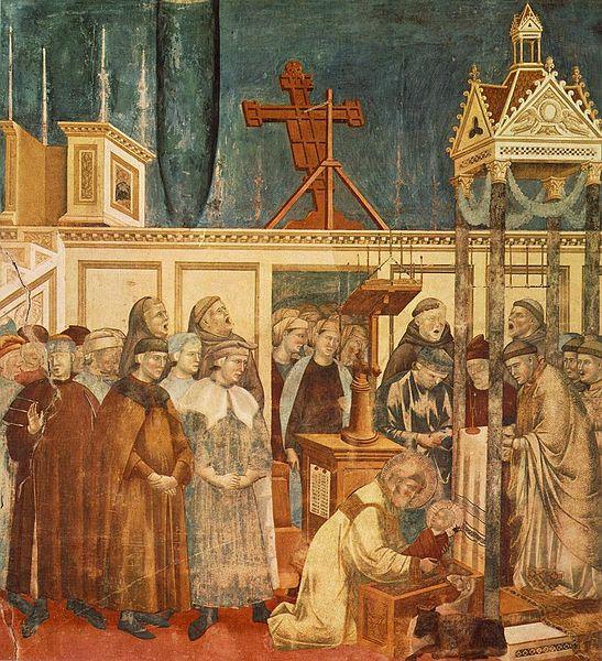 Giotto - Leggenda di San Francesco - Il presepe di Greccio